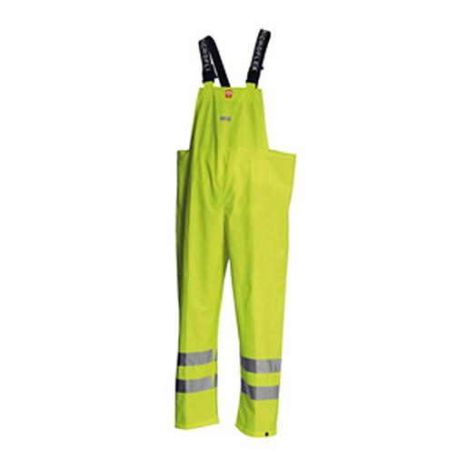 Flammenhemmende Warnschutz-Regenlatzhose MicrofleX gelb
