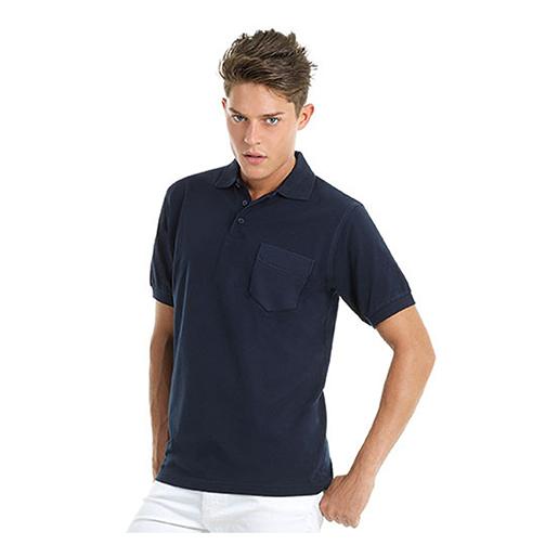 Poloshirt Safran Pocket navy 100% BW