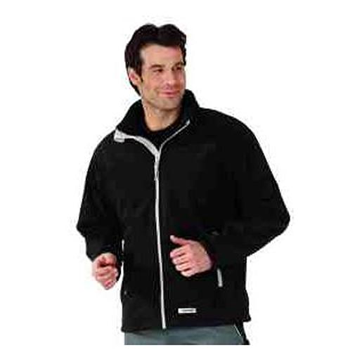 Retro Fleece-Jacke schwarz Gr.XL