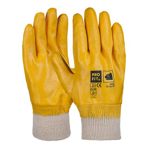 Nitril-Handschuh gelb, vollbeschichtet