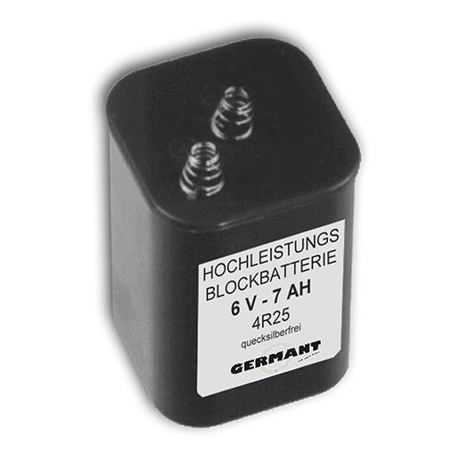 Blockbatterie 6V 7Ah 4R25 quecksilberfr.