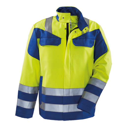 Warnjacke Multinorm #356 gelb/kornblau