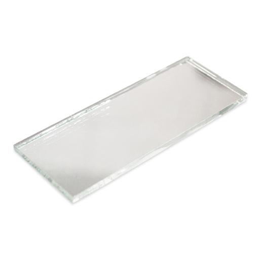 Spiegelglas 100x40mm, ungeschliffen
