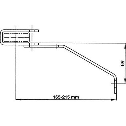 Wandanker 150-200 mm V4A für GFK-Leiter