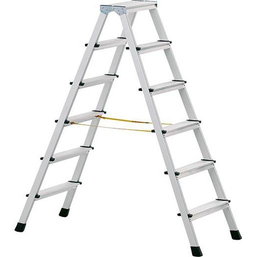Stufen-Stehleiter eloxie.1.44m Länge