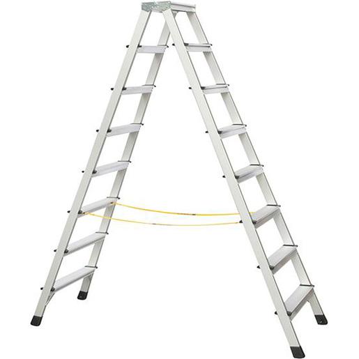 Stufen-Stehleiter eloxie.1.91m Länge