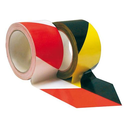 PVC-Warnba. selbstk. gelb/schw. 66mx60mm