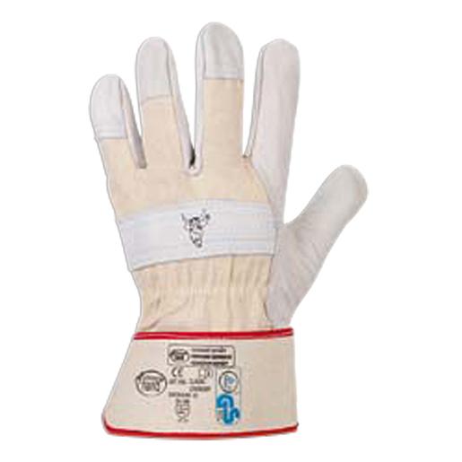 Rindvollleder-Handschuh Stierkopf Gr.9