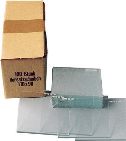 Vorsatzglas klar DIN 90x110mm