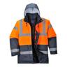 Warnschutz-Verkehrs-Parka orange/marine