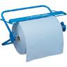 Wandhalter für Großrolle Metall blau